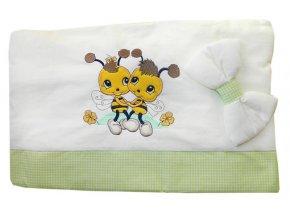 4-dílné dětské povlečení Cosing DeLuxe 100x135cm - Včelky zelená