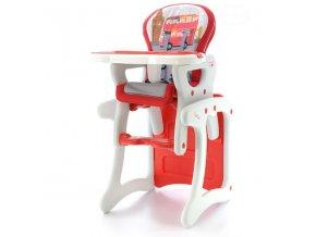 Jídelní židlička víceúčelová 2v1 Eurobaby - Červená