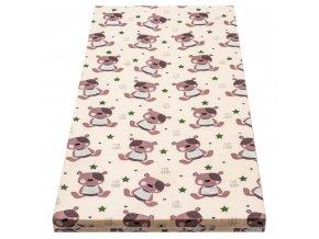 Danpol dětská matrace do postýlky 105x70cm - barevná s potiskem