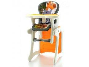 Jídelní židlička víceúčelová 2v1 Eurobaby - Pomeranč