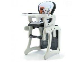 Jídelní židlička víceúčelová 2v1 Eurobaby - Šedá