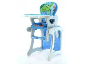 Jídelní židlička víceúčelová 2v1 Eurobaby - Modrá