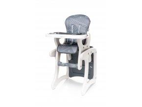 Jídelní židlička 4Baby Fashion 2017 - Grey