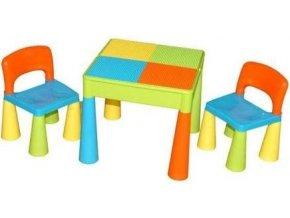 Dětská sada stoleček a 2 židličky Tega - Multicolor