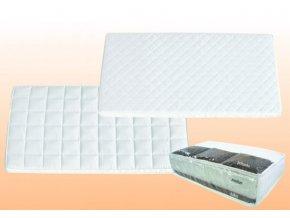 DANPOL Dětská matrace pohanka/molitan/kokos 120 x 60 x 9 cm - bílá
