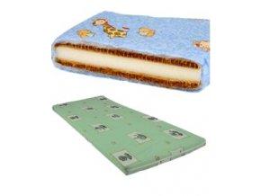 DANPOL Dětská matrace kokos/molitan 120 x 60 x 7 cm - barevná s potiskem