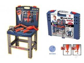 Dílna a kufřík s nářadím a pracovní stůl pro kluky a malé kutily 3887