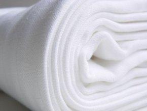 Látkové bavlněné pleny bílé 80x80cm – 10ks