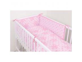 Ceba 3-dílné dětské povlečení 100x135cm - Hvězdy růžová