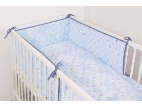 Ceba 3-dílné dětské povlečení 100x135cm - Hvězdy modré