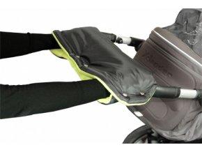 Emitex rukávník na kočárek fleece - černý + limetka