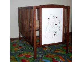 BOBAS Dětská dřevěná postýlka Medvídek 120 x 60 cm - borovice
