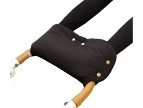 Emitex rukávník na kočárek fleece - černý + béžový