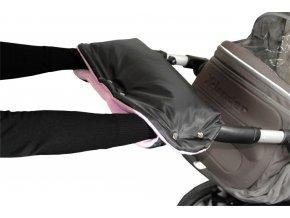 Emitex rukávník na kočárek fleece - černý + lila