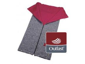 Little Angel autofusak ze svetroviny Outlast - šedý melír/růžová