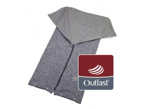 Little Angel autofusak ze svetroviny Outlast - šedý melír/šedá
