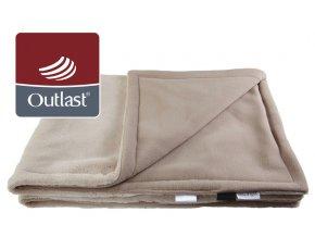 Little Angel deka dvojitá Ťapka Outlast - bílá káva/sv.hnědá