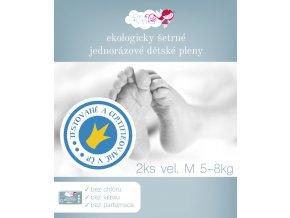 MonPeri dětské pleny M - 5-8kg, 2ks/bal