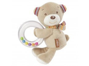 BABY FEHN Rainbow chrastítko medvídek