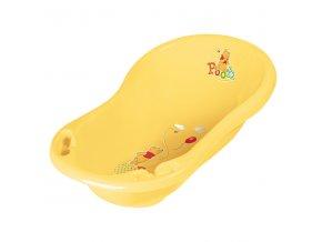 """PRIMA BABY Dětská vanička 84cm se zátkou """"Winnie Pooh"""", žlutá"""