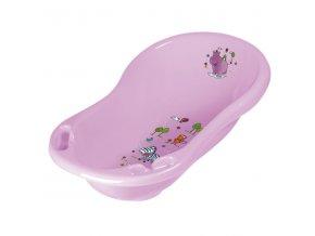PRIMA BABY Dětská vanička Hippo 84 cm, sv.fialová