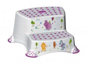 """PRIMA BABY Dvojstupínek k WC/umyvadlu """"Hippo"""", bílá"""