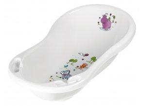 """PRIMA BABY Dětská vanička 84cm """"Hippo"""" se zátkou, bílá"""