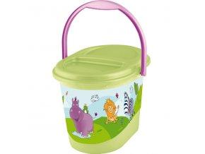 """PRIMA BABY Koš na pleny """"Hippo"""", zelená"""