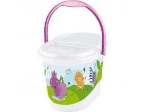 """PRIMA BABY Koš na pleny """"Hippo"""", bílá"""