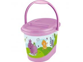 """PRIMA BABY Koš na pleny """"Hippo"""", sv. fialová"""