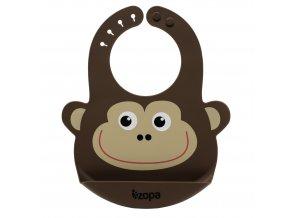 ZOPA Silikonový bryndák, Monkey