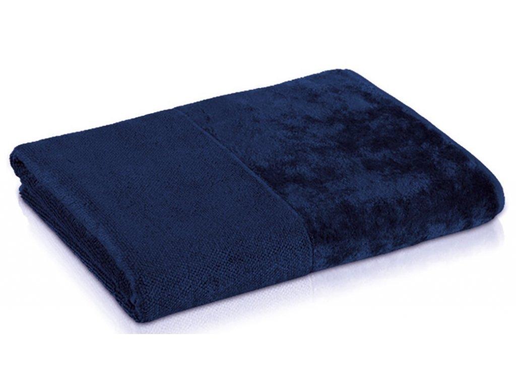modrý bambusový ručník 1