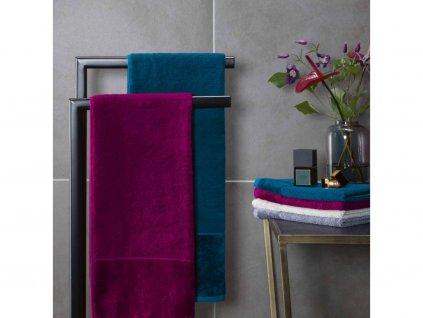 modrozelený bambusový ručník 1