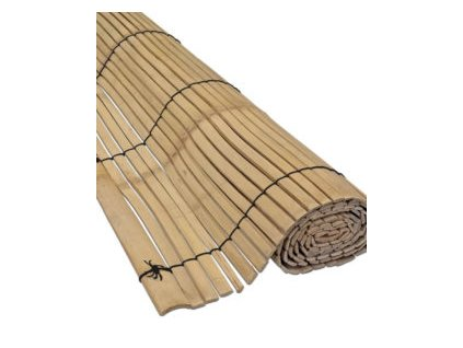 bamboo blind natural yellow 100x200