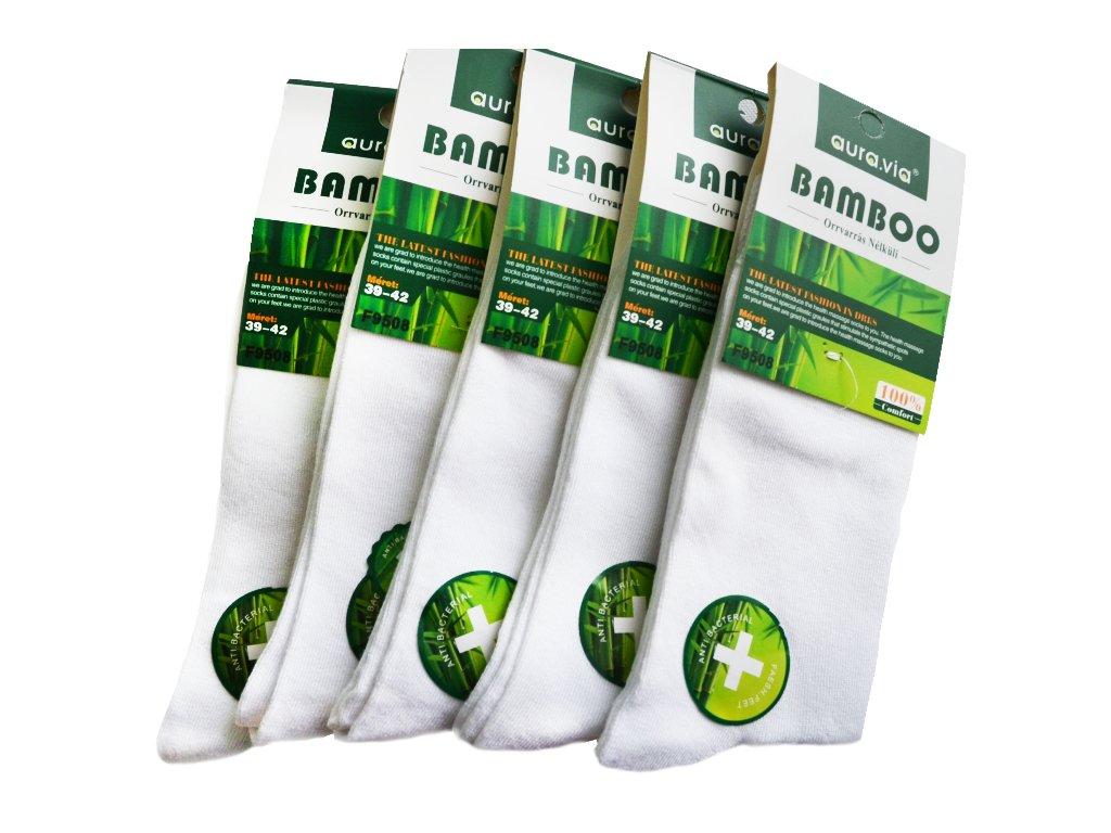 Bambusové ponožky - 5 párů bílé
