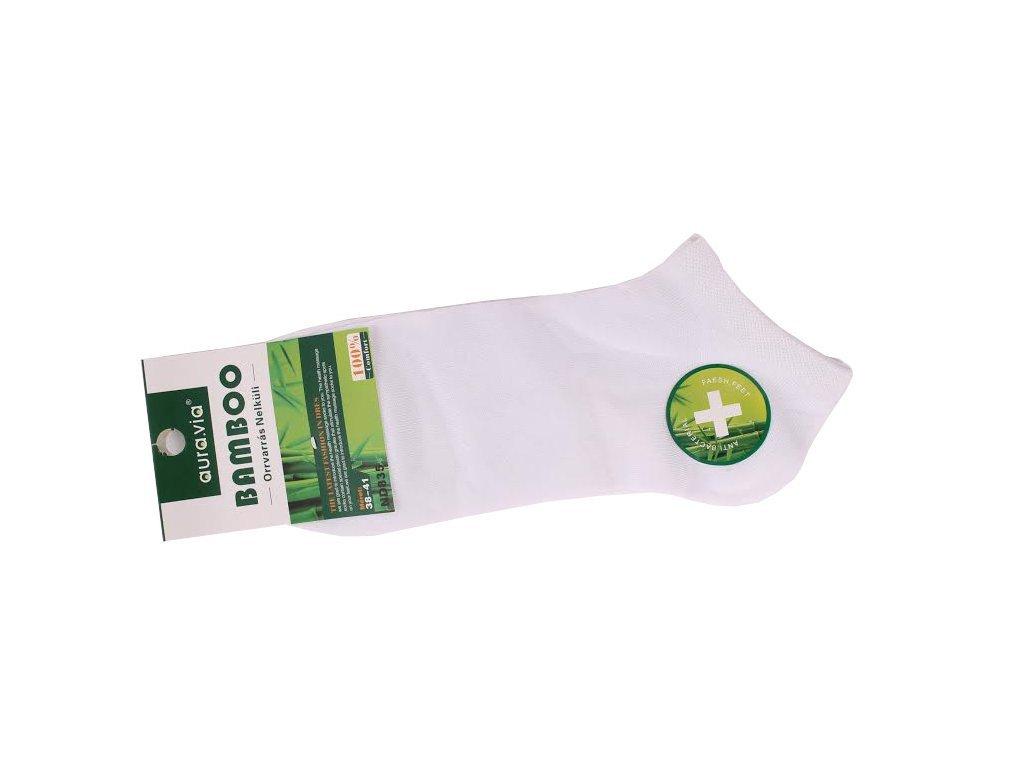 Bílé kotníkové - Bambusové ponožky - 1 pár