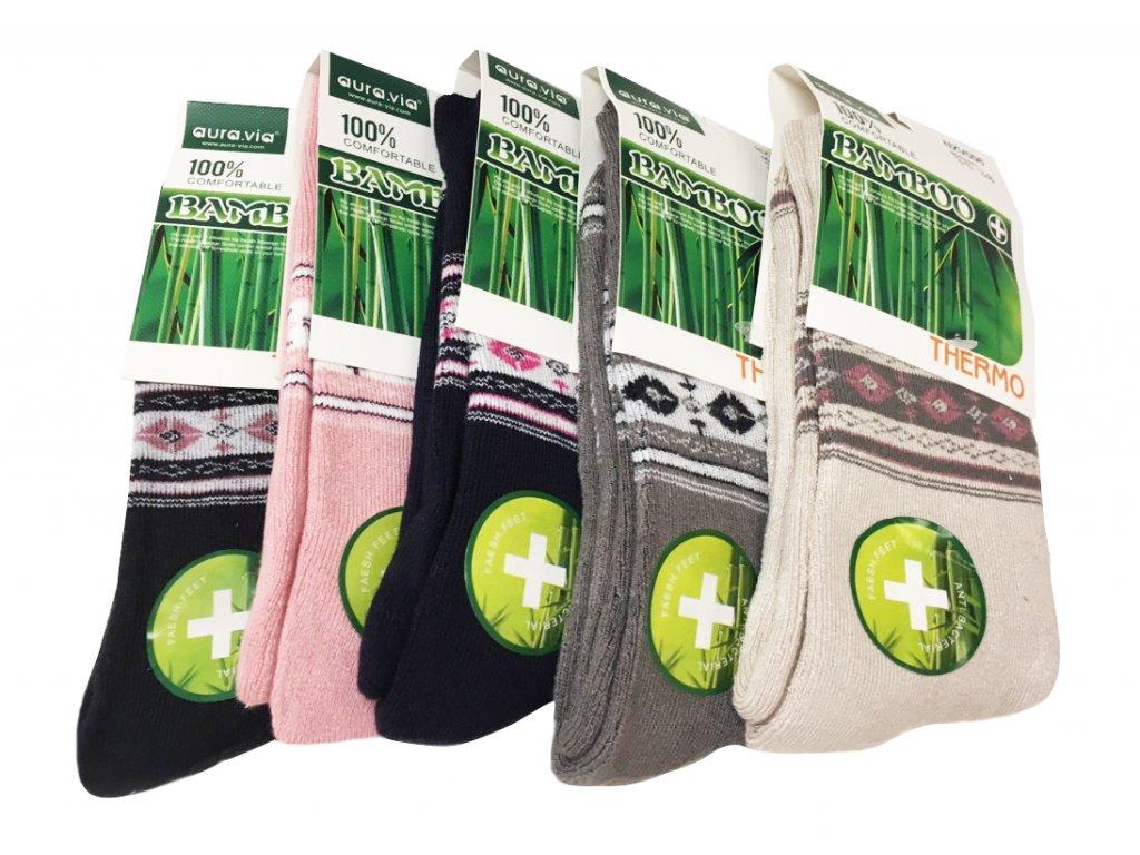 Termo Bambusové ponožky - 5 párů