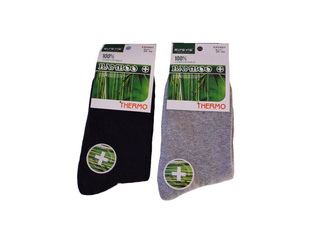 Termo Bambusové ponožky - 2 páry mix barev