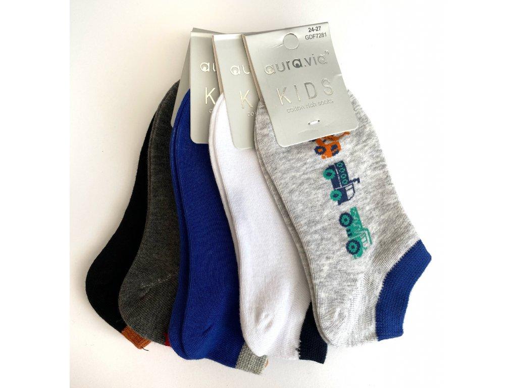 Dětské bavlněné ponožky MIX barev 5ks