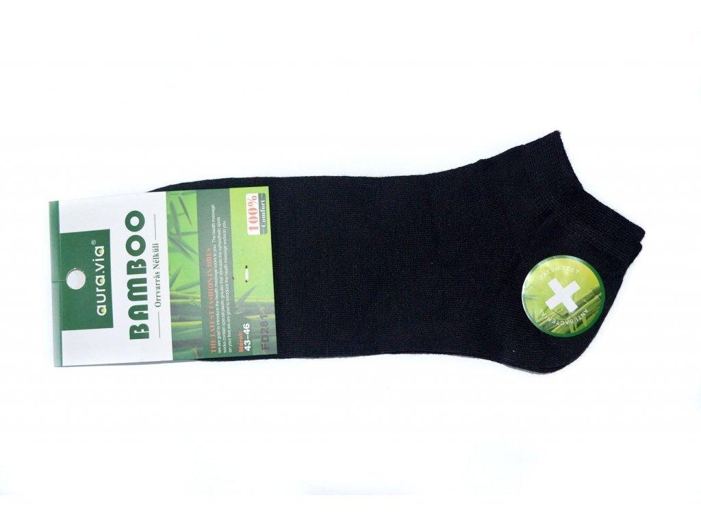156 cerne kotnikove bambusove ponozky 1 par