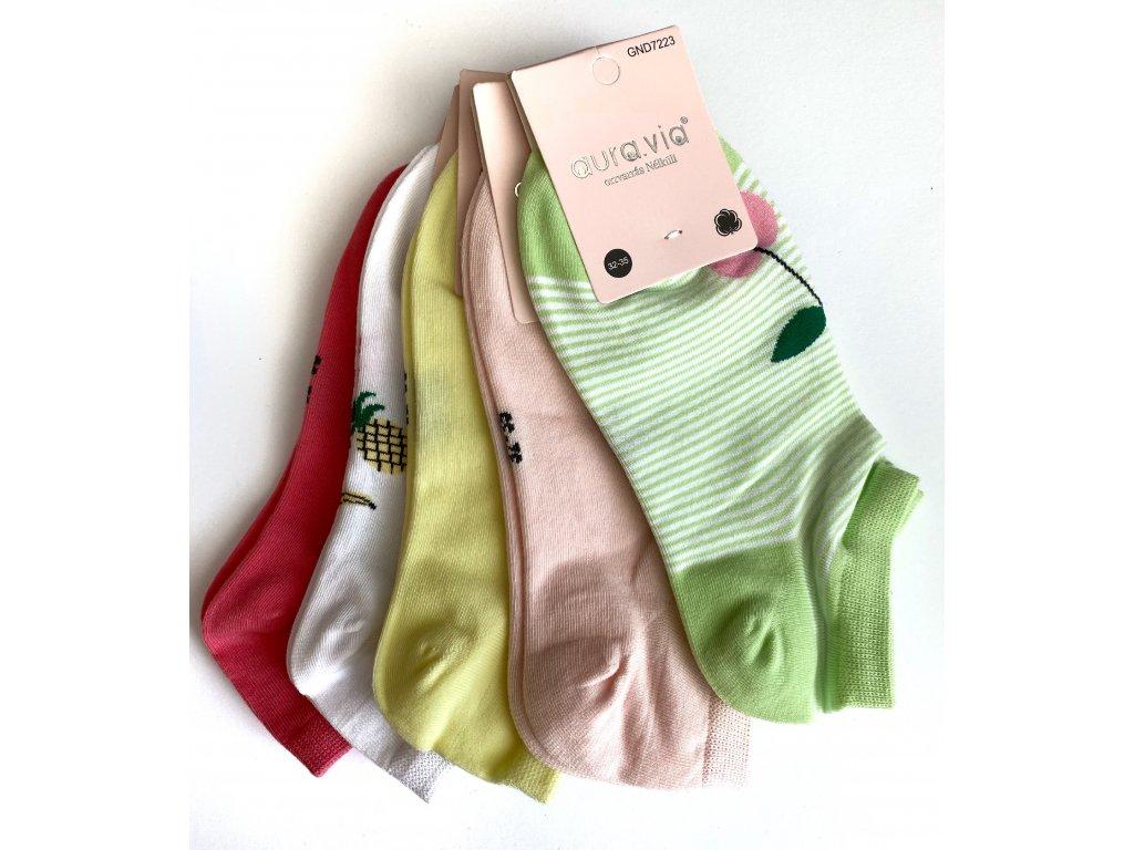 Dětské dívčí bavlněné ponožky MIX barev 5ks