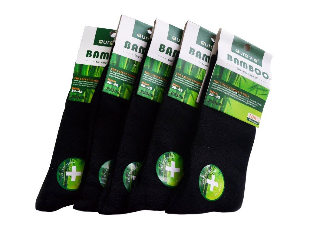 Černé Classic - Bambusové ponožky - 5 párů