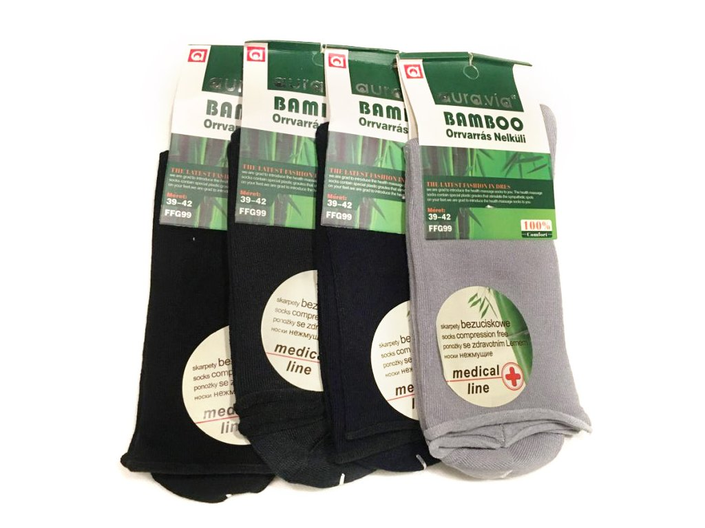 57 zdravotni bambusove ponozky 5 paru