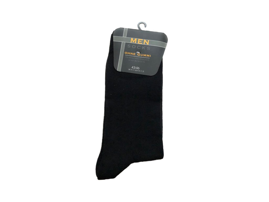 Černé Classic - Bavlněné ponožky - 5 párů vel. 43 - 46