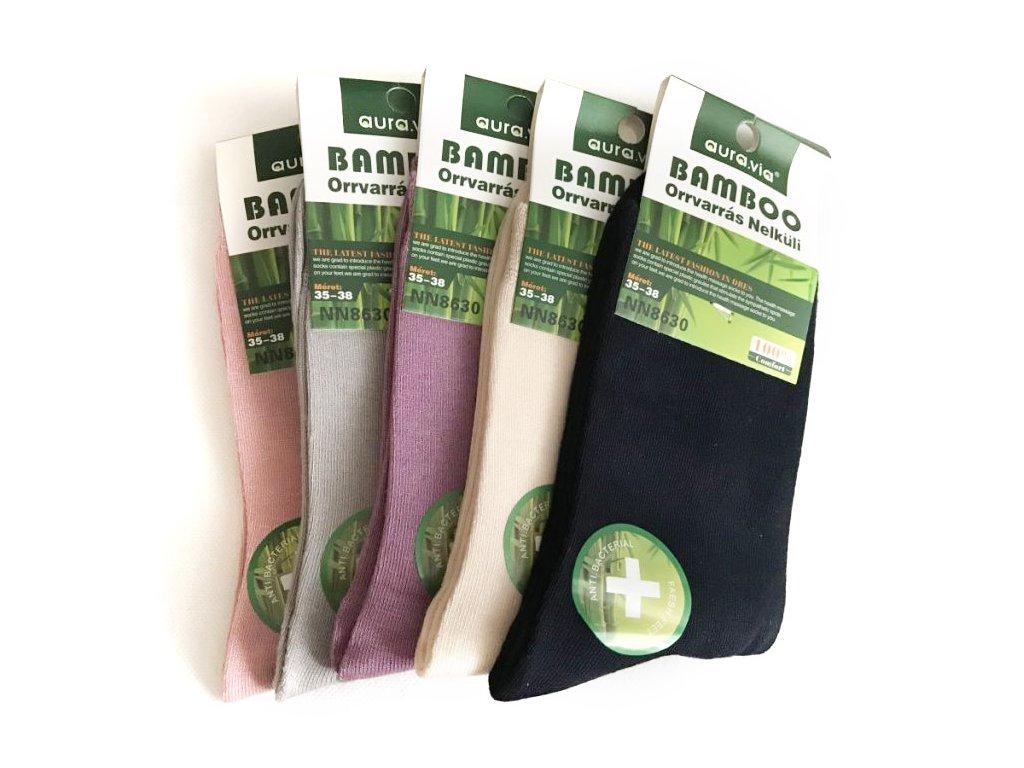 78 bambusove ponozky damske klasicke bal mix barev 5ks