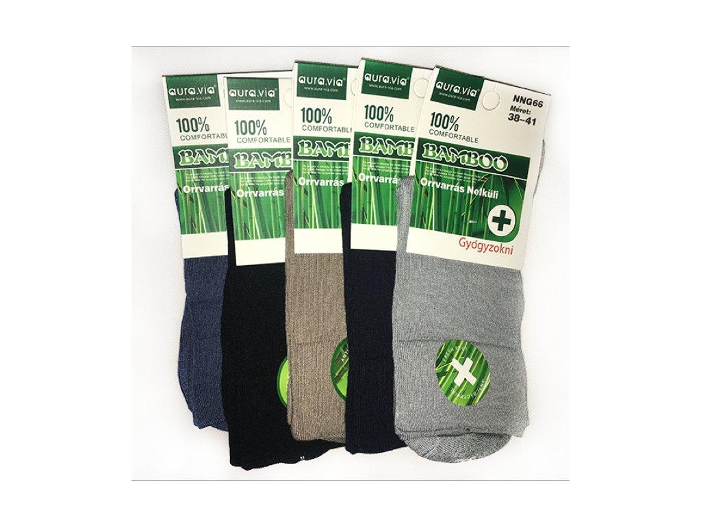 Zdravotní Bambusové ponožky dámské bal.mix barev 5ks