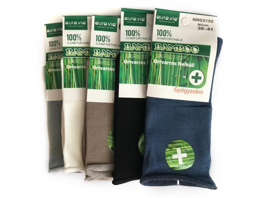 90 zdravotni bambusove ponozky damske bal mix barev 5ks