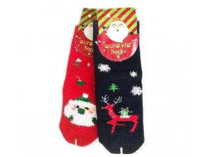 93 detske bavlnene ponozky vanocni mix 2 ks baleni 24 27