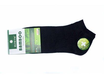 Černé kotníkové - Bambusové ponožky - 1 pár