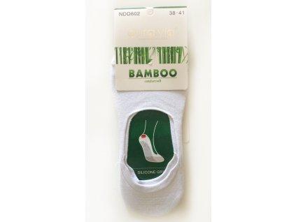 Bambusové dámské ťapky -  bílé - 1 pár